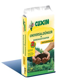 25 kg Cuxin Universaldünger + Bodenaktivator, Organischer NPK-Dünger 4-3-2