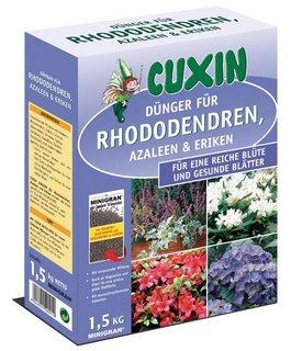 1,5 kg Cuxin  Rhododendren-, Azalleen-& Erika-Dünger,
